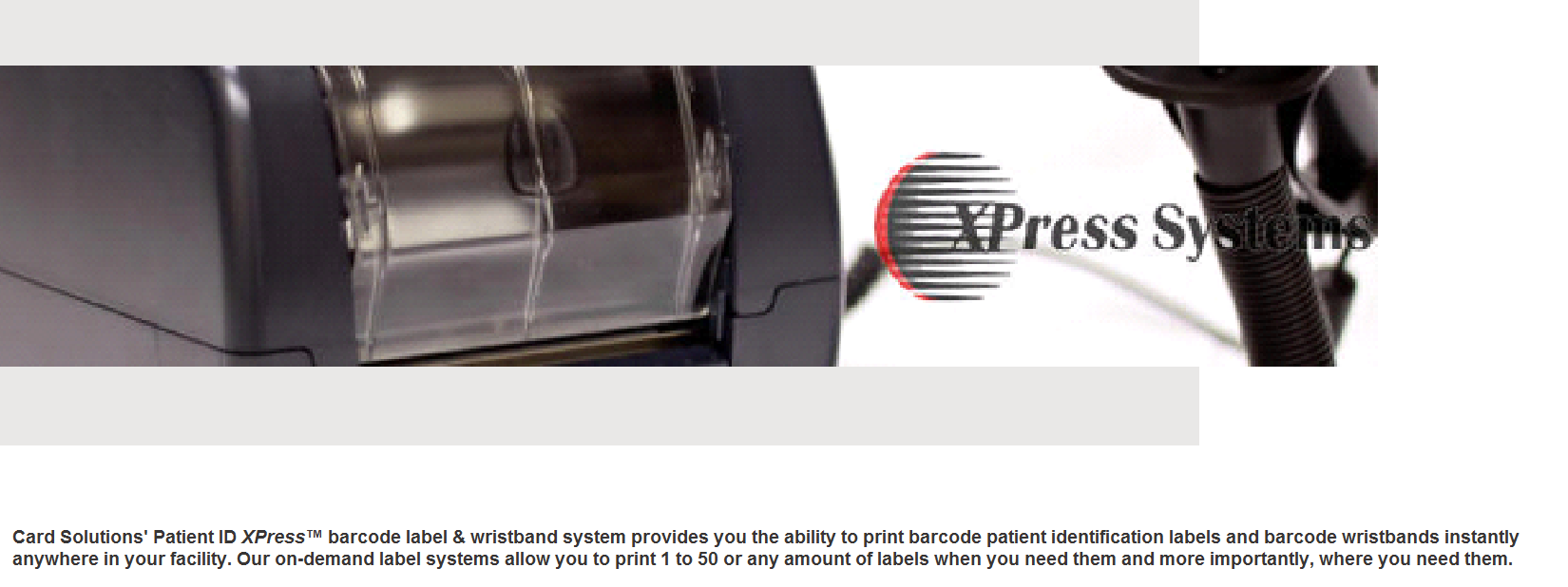 Card Solutions Patient ID XPress™
